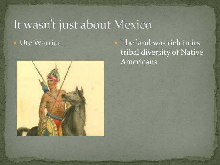 It wasn't just about Mexico