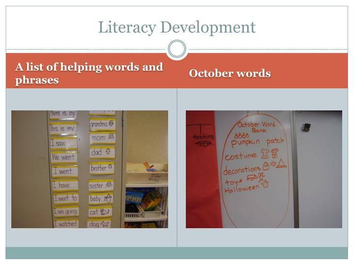 Literacy Development