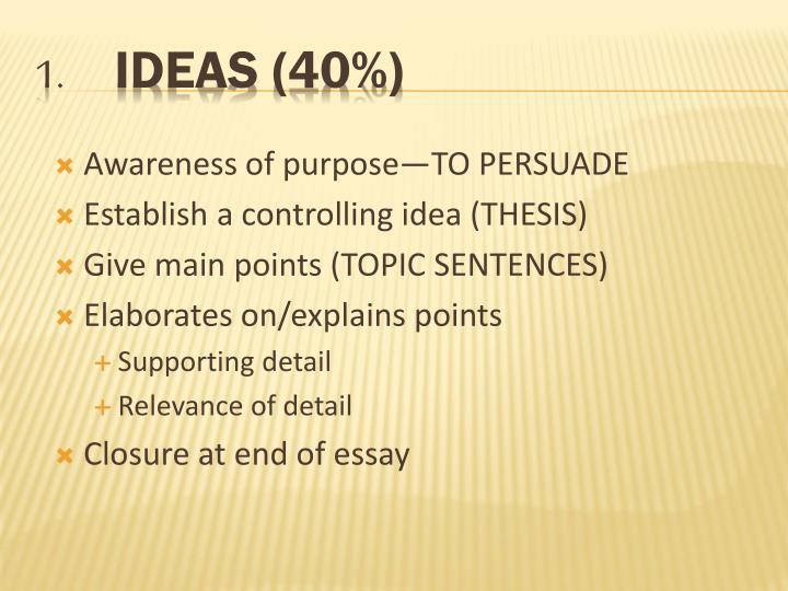 IDEAS (40%)