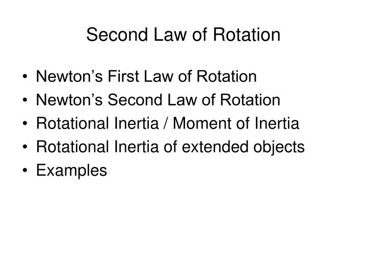 PPT - Second Law of Rotation PowerPoint Presentation - ID