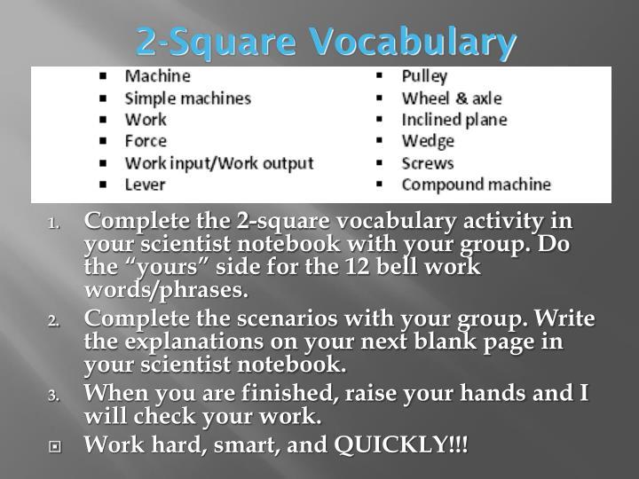 2-Square Vocabulary