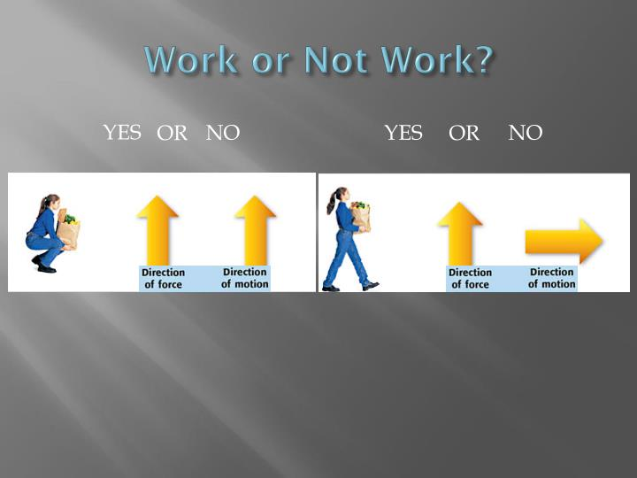 Work or Not Work?