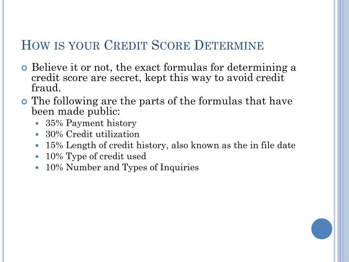 How is your Credit