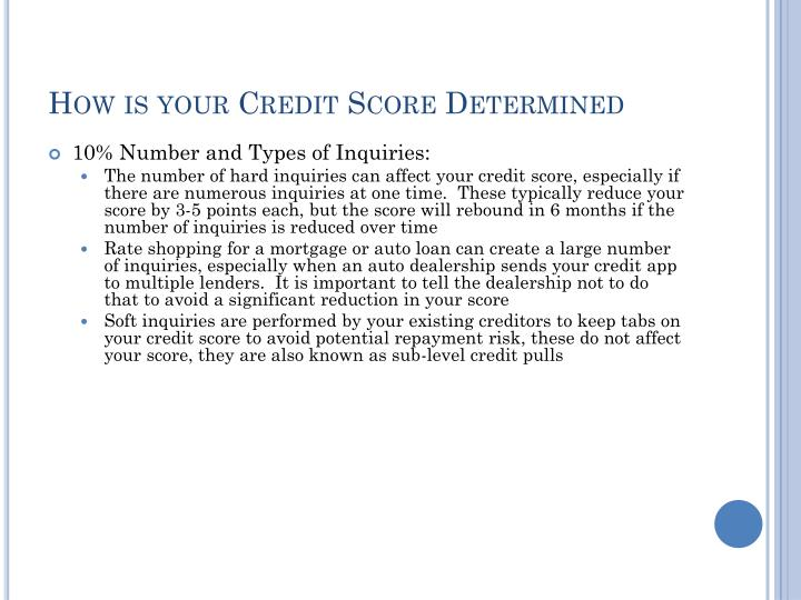 How is your Credit Score Determined