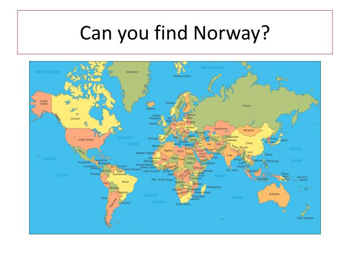 Can you find Norway?