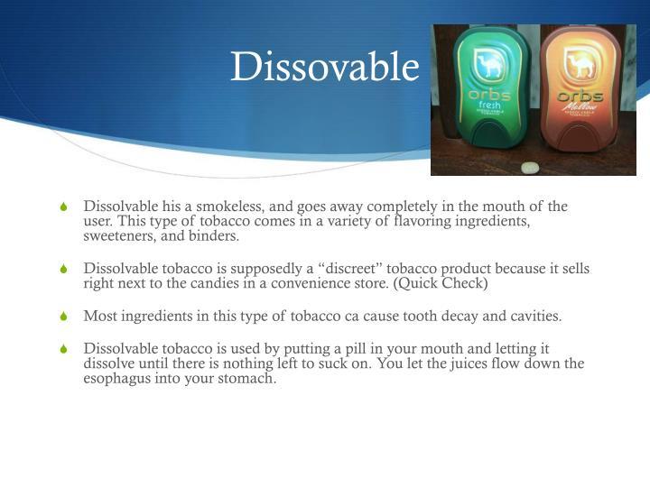 Dissovable