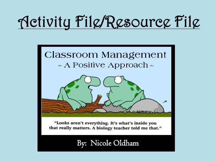 activity file resource file n.