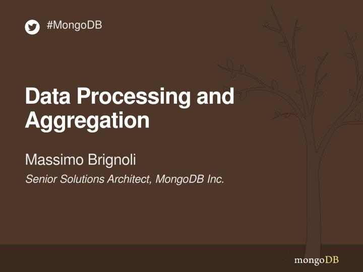 data processing and aggregation n.