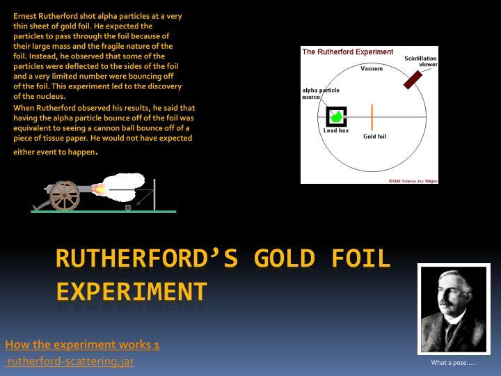 Ernest Rutherford shot
