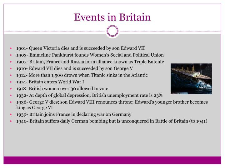 Events in britain