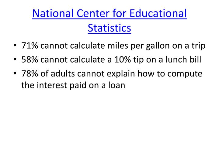ppt national center for educational statistics powerpoint