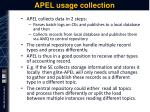 apel usage collection