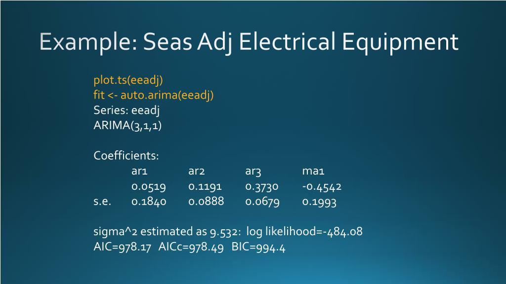 PPT - Non-seasonal ARIMA PowerPoint Presentation - ID:2587147