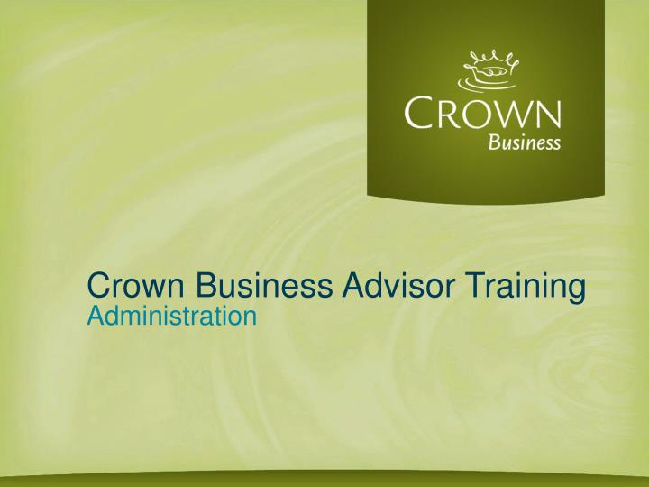 crown business advisor training n.