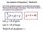 use systems of equations method 5