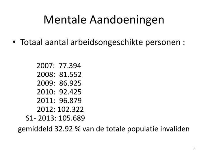 Mentale aandoeningen1