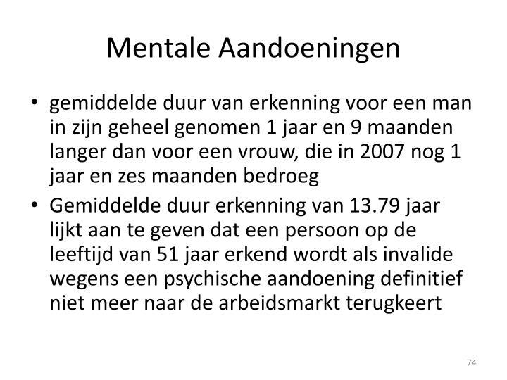 Mentale Aandoeningen