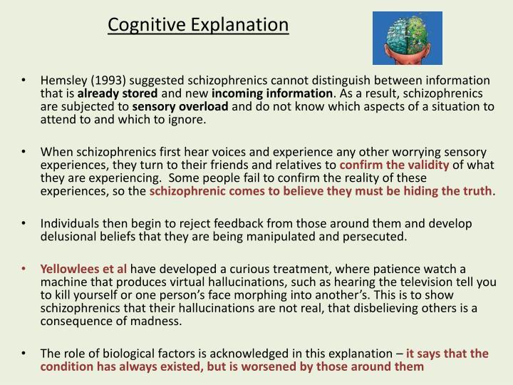 Cognitive explanation