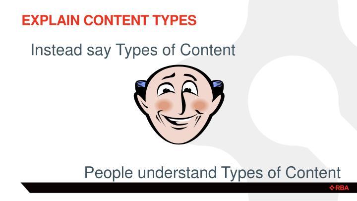 Explain content Types