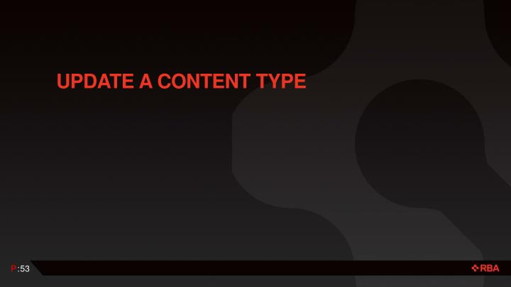 Update a Content Type