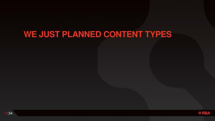 We just planned content Types