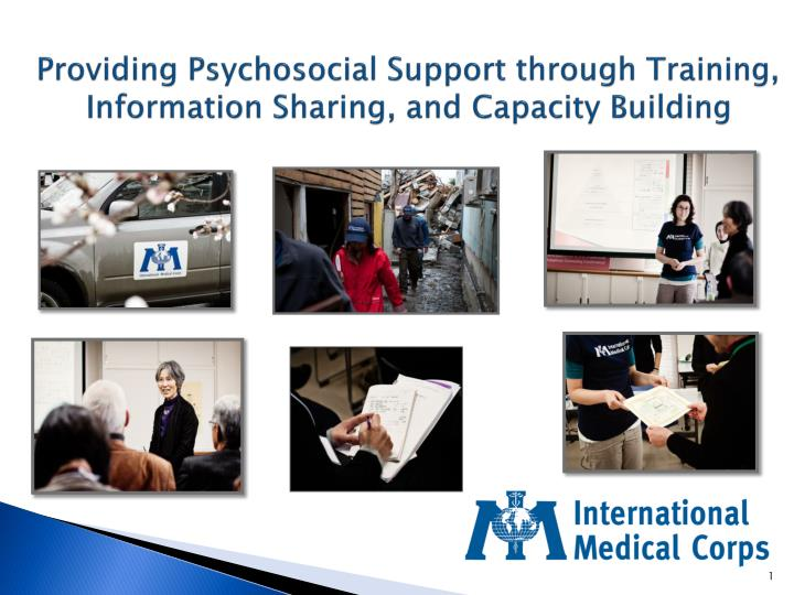 Providing psychosocial support through training information sharing and capacity building