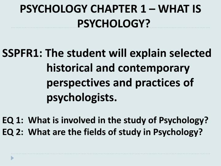 psychology 100 course chapter 1 Psychology 100 fall 2012 madigan page 5 how i study for psychology 100 this description of study habits and practices was written by a usc student, timothy fellows.