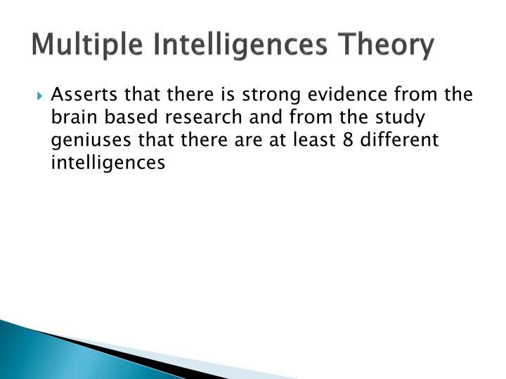 Multiple Intelligences Theory