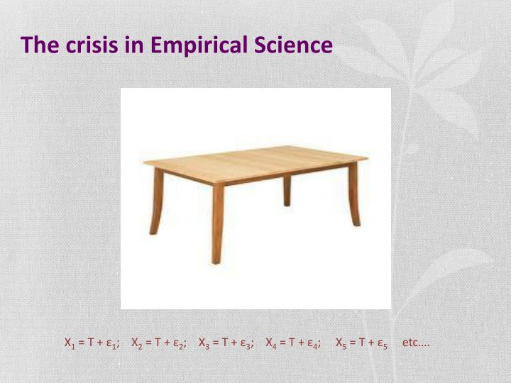 The crisis in Empirical Science