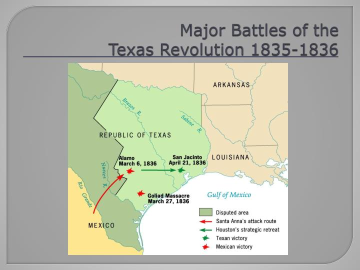 the battle of the texas revolution Primary source adventures texas revolution this psa instructs learners in the general events of the texas revolution they will have an understanding of the ebb and flow of the military campaign, along with general decisions by santa anna and texas.