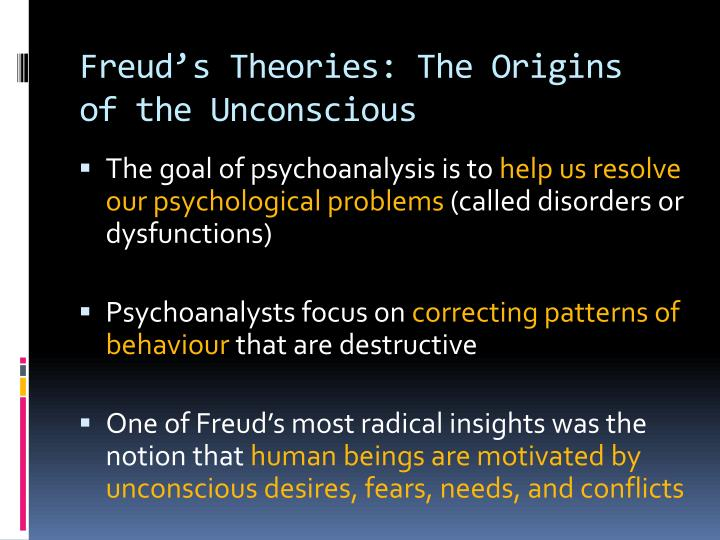 application of freud's theory of the The freudian theory holds relevance for a marketer first, consumer reactions in the marketplace with respect to purchase decisions and post purchase behavior are a reflection on individual personality.