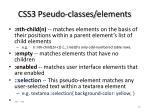 css3 pseudo classes elements
