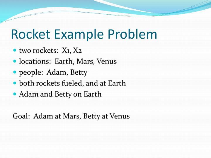 Rocket Example Problem