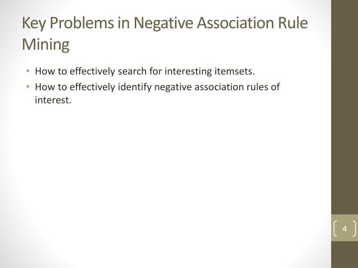 Key Problems in Negative Association
