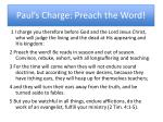 paul s charge preach the word