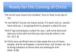 ready for the coming of christ1