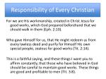 responsibility of every christian