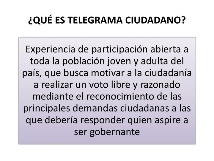 Qu es telegrama ciudadano