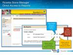 rosetta stone manager direct access to reports