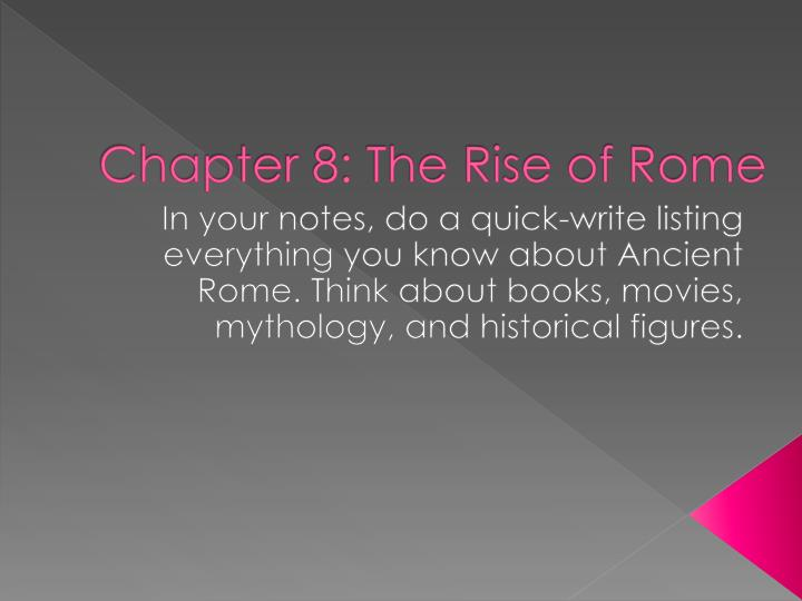 chapter 8 the rise of rome n.