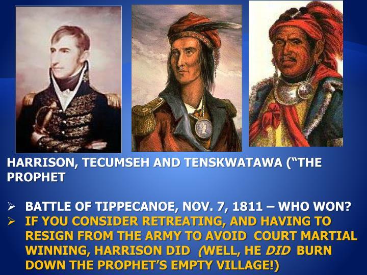 HARRISON, TECUMSEH AND