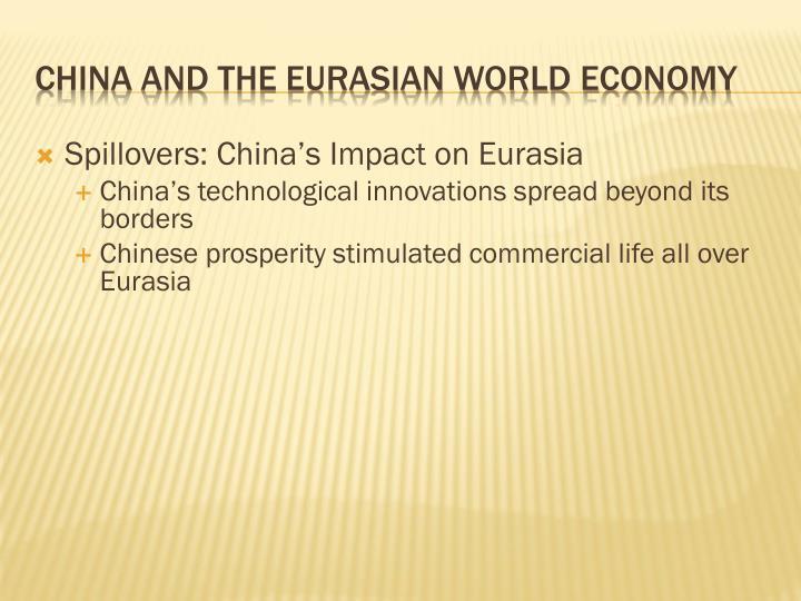 Spillovers: China's Impact on Eurasia