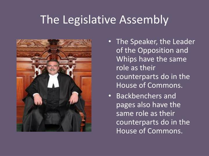 The Legislative Assembly