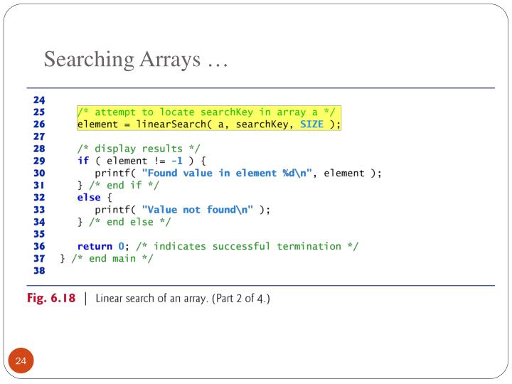 Searching Arrays …