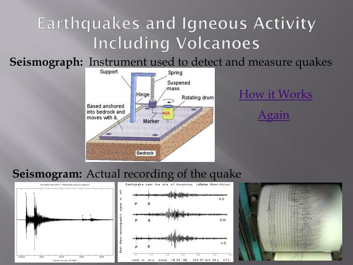 Earthquakes and Igneous Activity Including Volcanoes