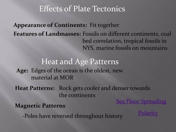 Effects of Plate Tectonics
