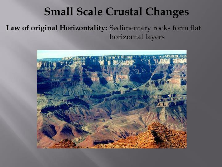 Small Scale Crustal Changes