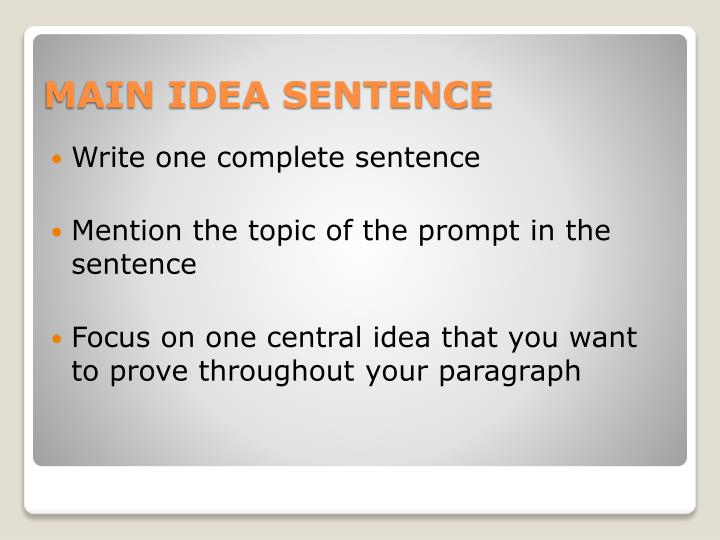 Write one complete sentence