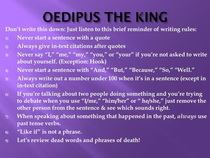 role of the chorus in oedipus the king essays In oedipus the king, the actor playing oedipus wore a mask showing him simply as a king, while in oedipus at colonus, oedipus appears in the mask of an old man as sophocles saw him — and as actors portrayed him — oedipus displayed no personality or individuality beyond his role in the legend.