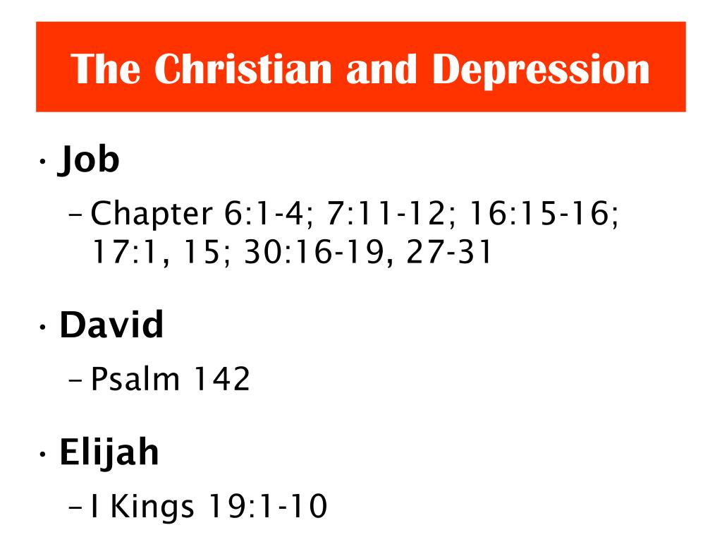 PPT - The Christian and Depression PowerPoint Presentation ...